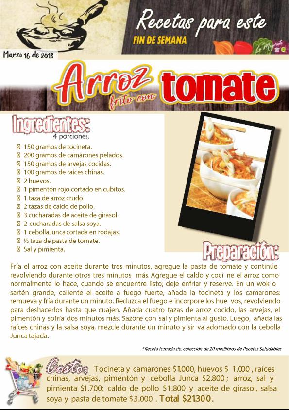 Arroz frito con tomate