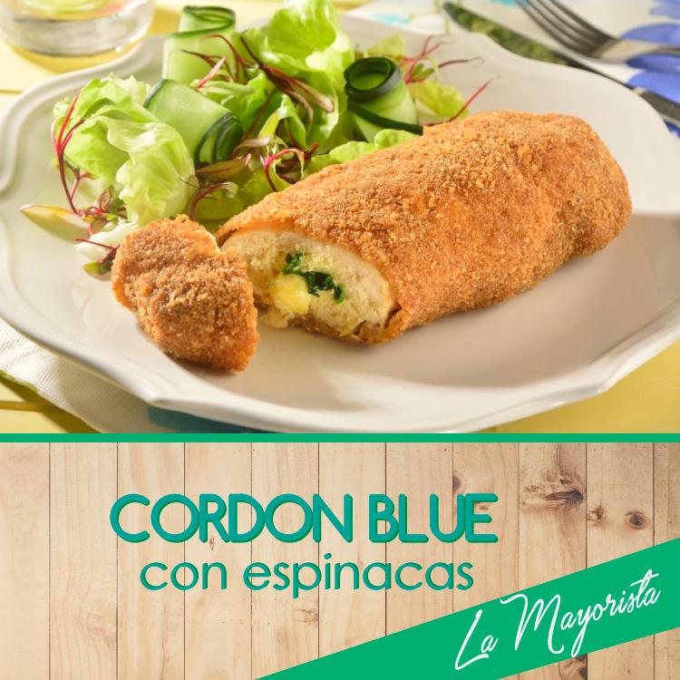Cordon blue con espinaca